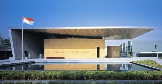 Singapore high commision new delhi architecture scda for Architecture design company in delhi